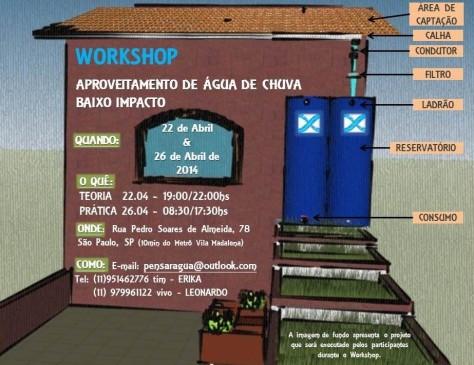 Convite para WORKSHOP de Aproveitamento de Água de chuva em São Paulo-SP.