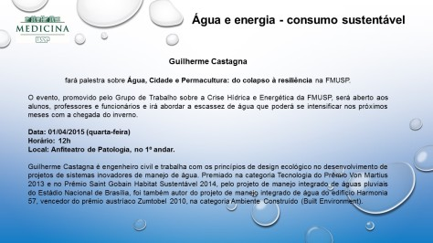Água e Energia - Palestra na FMUSP